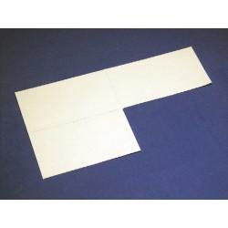 Papier-Einlage weiss Grösse 85x55