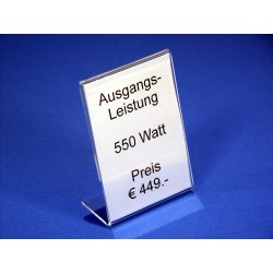 Preisblattsteller Acrylglas
